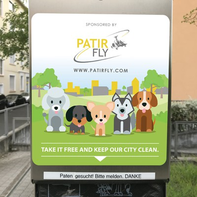 Design a water dispenser sticker for Patir Fly