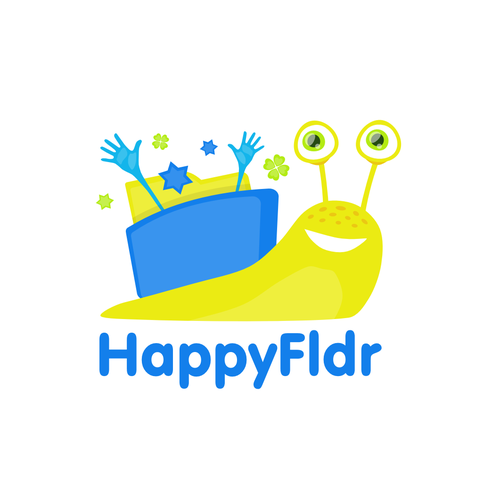 Snail design with the title 'Happy Folder'