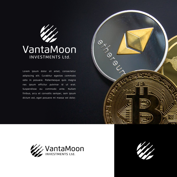 Ethereum logo with the title 'Geometric Logo for Crypto Investment Company'