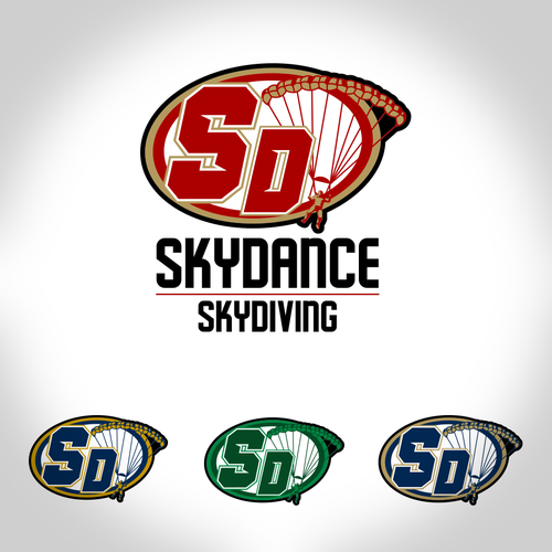 Skydiving design with the title 'Skydiving logo'