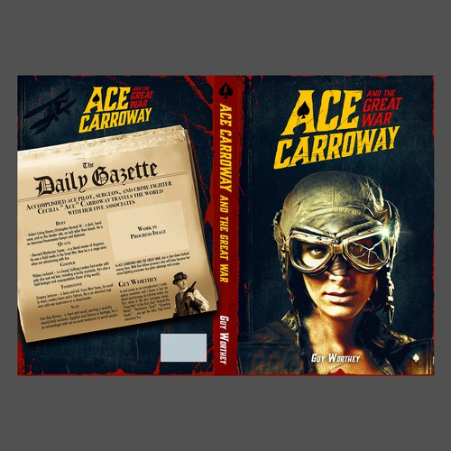 Pilot design with the title 'Ace Carroway - Book cover'