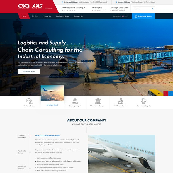 HTML website with the title 'Website Design'