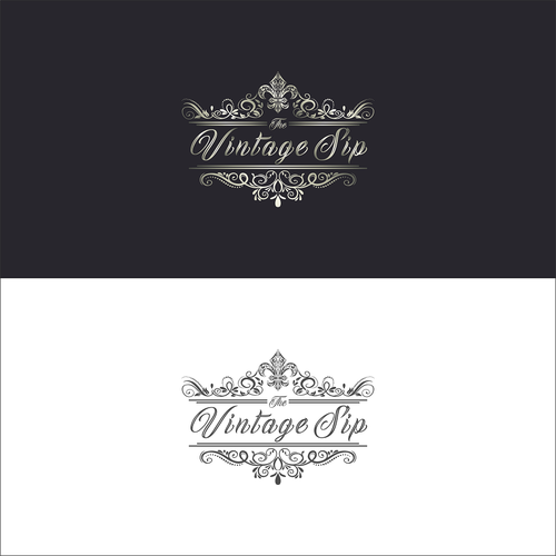 Wedding photography logo with the title 'The Vintage Sip'