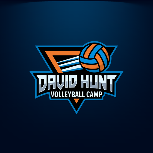 Volleyball logo with the title 'David Hunt Volley BAll'