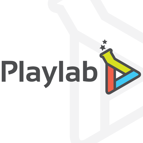 Fancy design with the title 'Playlab needs a new logo'