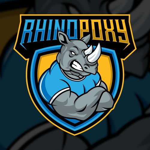 Rhino logo with the title 'RHINOPOXY '