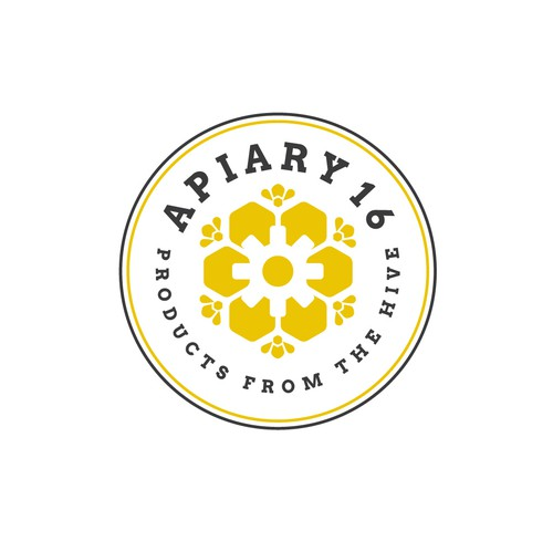Beehive logo with the title 'Apiary 16 '