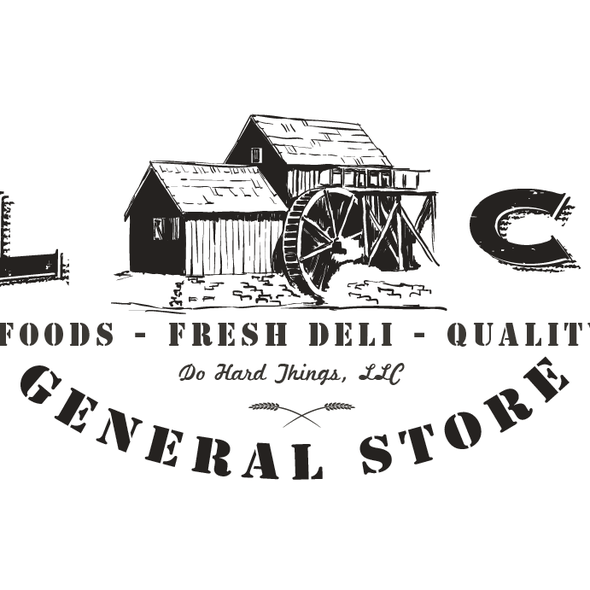 Mill design with the title 'Help Mill Creek General Store with a new logo'