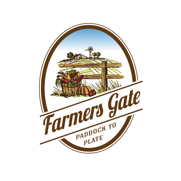Farmer logo with the title 'Help farmers gate with a new logo'