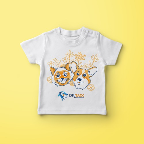 Cute t-shirt with the title 'T-Shirt for a small animal clinic'