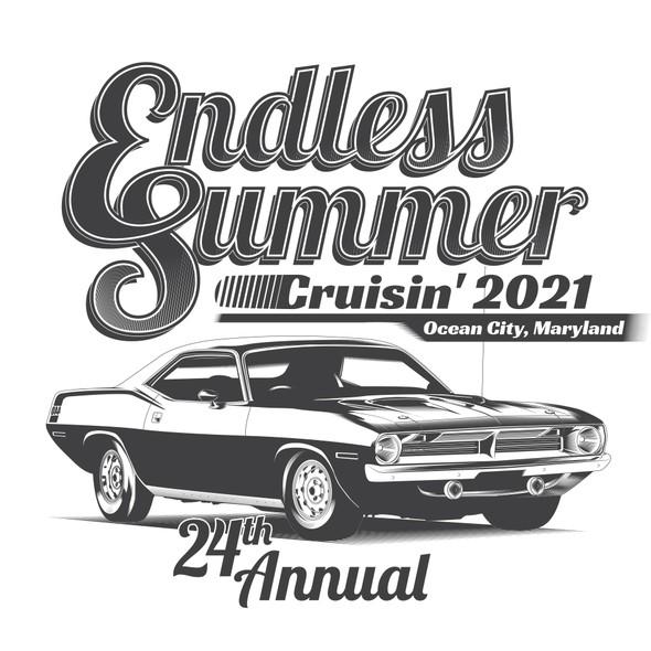 Summer t-shirt with the title 'Endless Summer Cruisin' 2021'