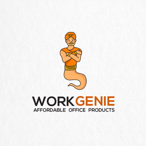 Genie logo with the title 'Work Genie LOGO'