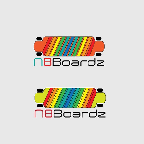 Skater design with the title 'Bold Colorful design'