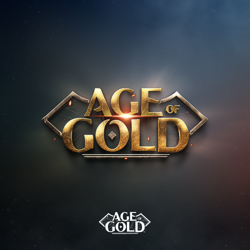 Fantasy logo with the title 'Logo design of the Age of Gold book series'