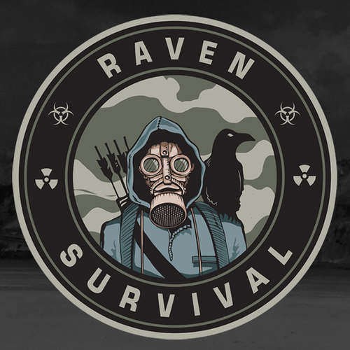 Patch design with the title 'Raven survival'