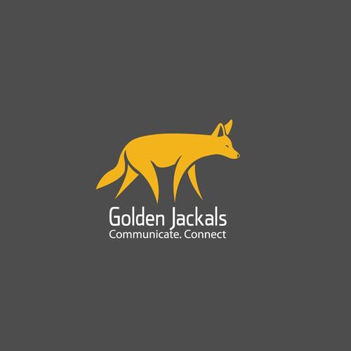 Jackal logo with the title 'Golden Jackals'