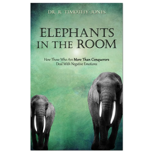 Elephant design with the title 'Book-cover design entry'
