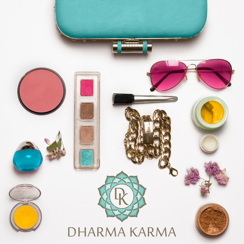 Hairstyle logo with the title 'Dharma Karma'