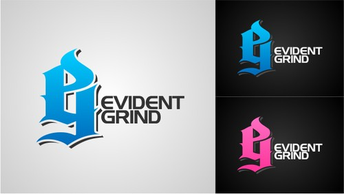 Activewear logo with the title 'Evident Grind'