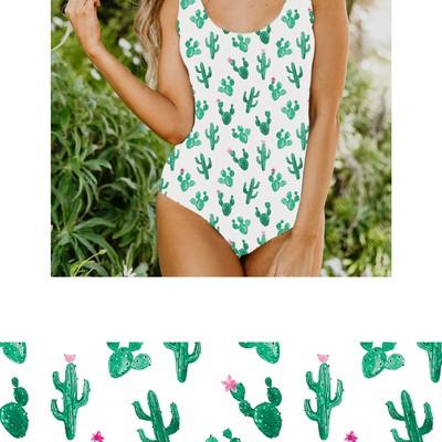 Cactus Print for Swimwear Fabric