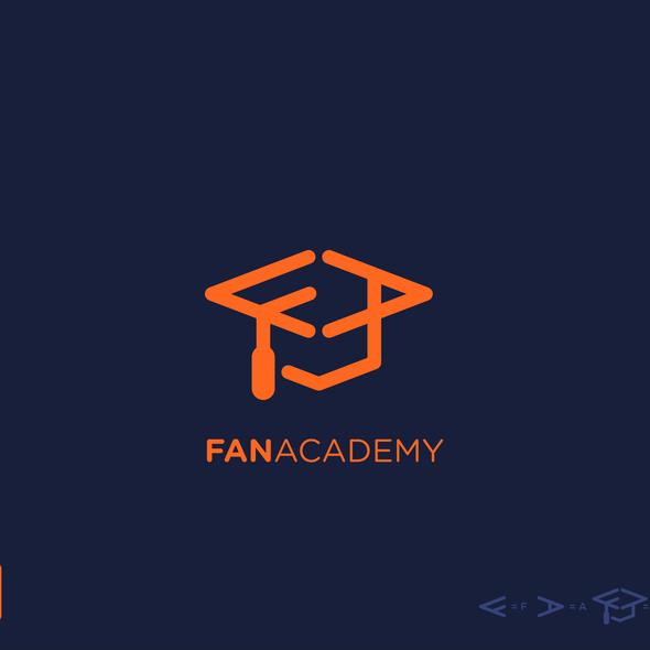 Graduation logo with the title 'Fan Academy Logo'
