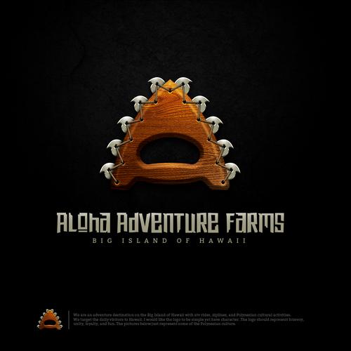 Hawaii surf logo with the title 'Aloha Adventure Farms'