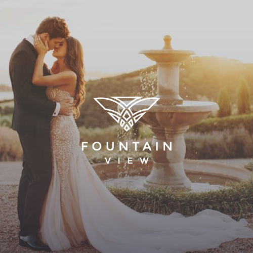 Fashion brand with the title 'Fountain View - Luxury Logo Design'