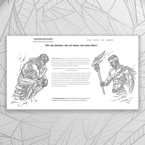 Decorative design with the title 'Geometric illustration for the site'