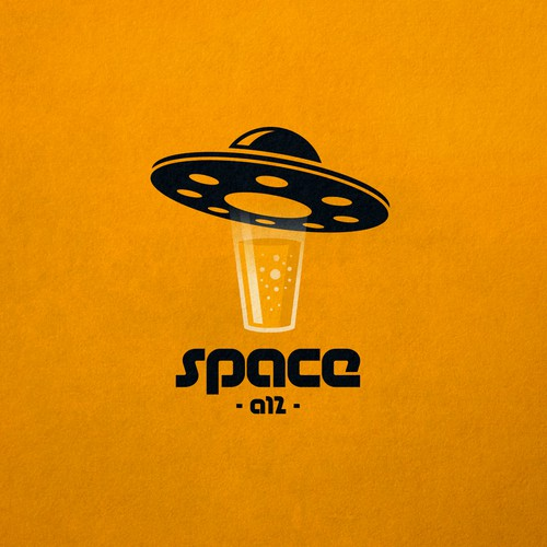 Space design with the title 'Creative logo for Space A12 bar.'