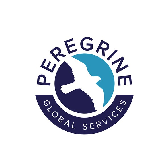 Dark green logo with the title 'Peregrine Global Services'