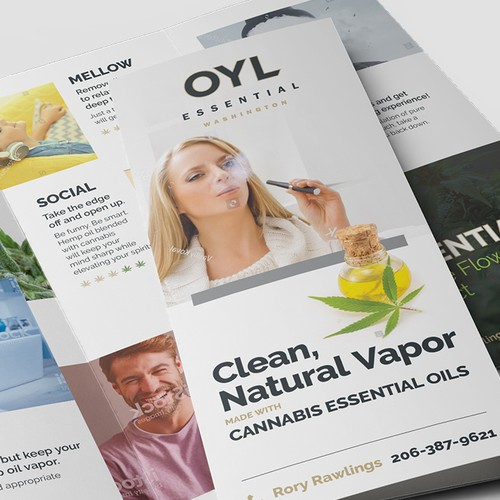 Outstanding design with the title 'OYL Essential Trifold'