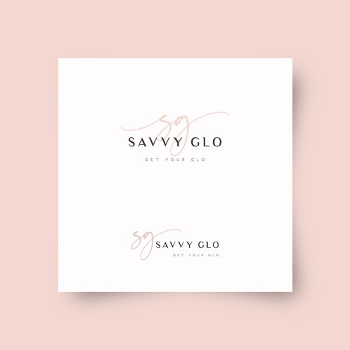 Delicate logo with the title 'Logo for Savvy Glo'