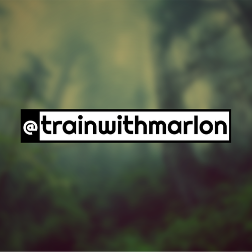 Trainer logo with the title '@trainwithmarlon'