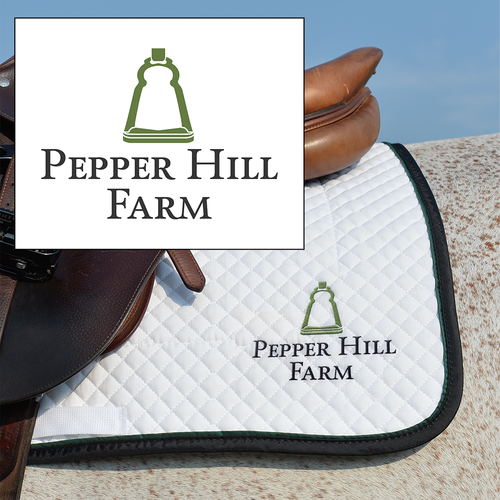 Horse riding logo with the title 'Pepper Hill Farm Logo'