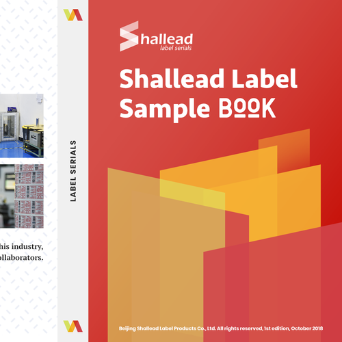 Product design with the title 'Book Design cover for shallead company'