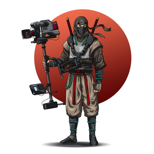 Ninja illustration with the title 'The Assassin'