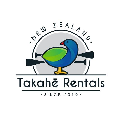 New Zealand logo with the title 'Takahe bird logo'