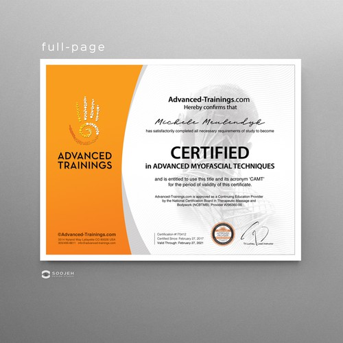Certificate design with the title 'Design background graphic for Certificate-of-Completion templates'