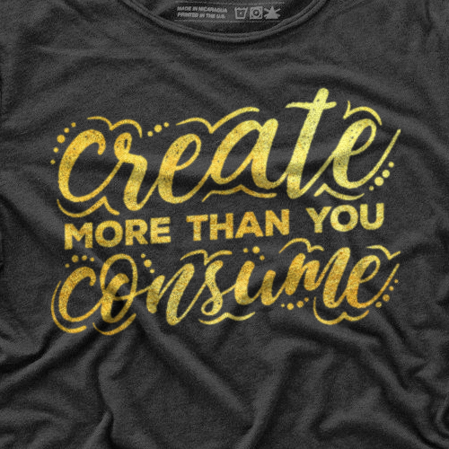 Creative t-shirt with the title 'T-shirt design'
