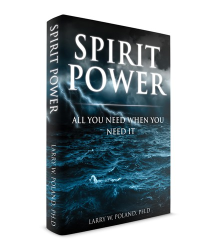 """Spiritual book cover with the title '""""Spirit Power"""" Christian Book Cover'"""