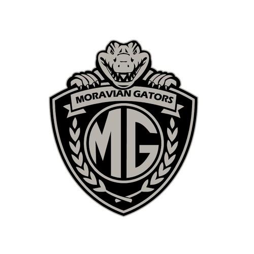 Alligator logo with the title 'Moravian Gators'