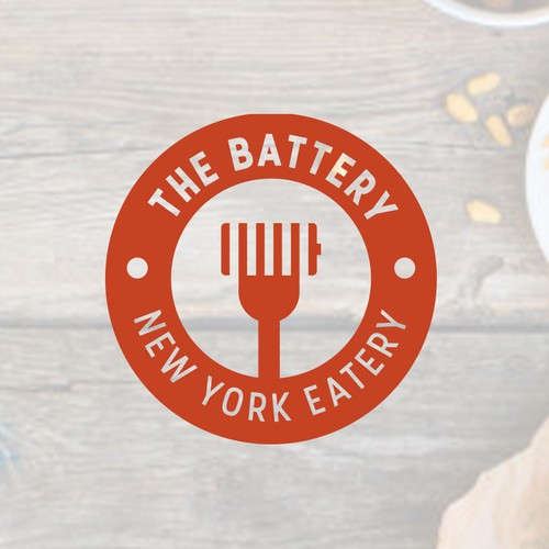 Battery logo with the title 'Logo for fast food stores in New York'