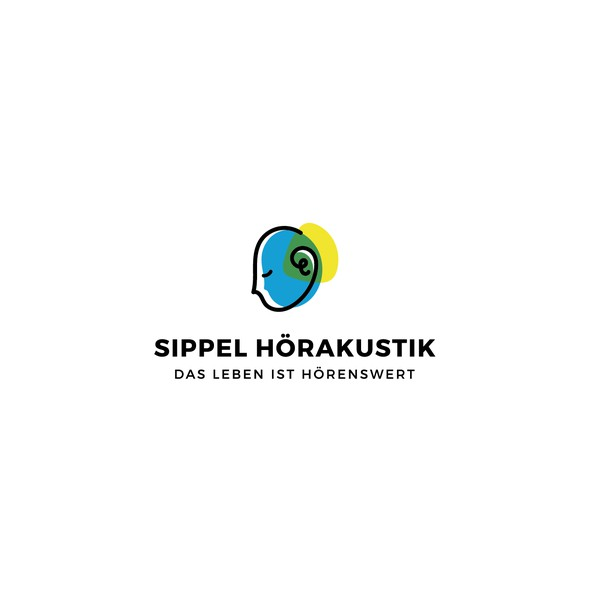 Hearing design with the title 'Brand identity for Sippel Hörakustik'