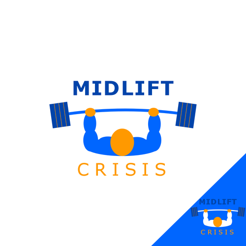 Weights logo with the title 'Logo for a weight lifting magazine'