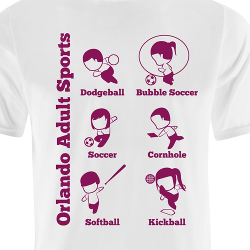 Soccer t-shirt with the title 'Character design for sports-themed shirt'