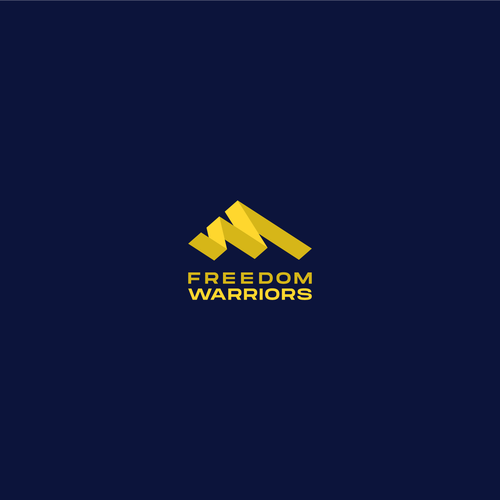 W brand with the title 'Freedom Warriors Logo'