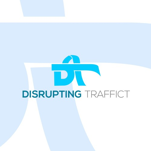 Give logo with the title 'Disrupting Traffick'