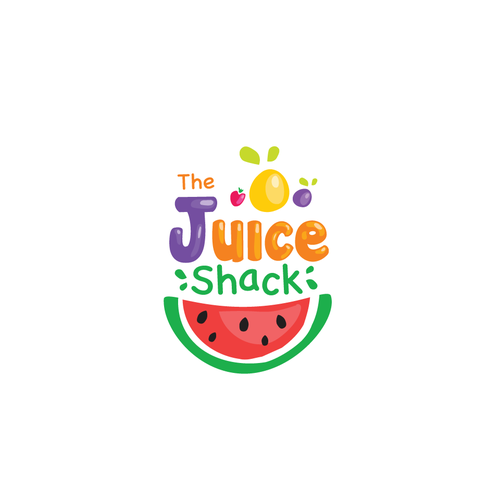 Fruity design with the title 'The Juice Shack'