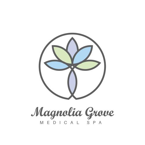 Magnolia design with the title 'Logo Design for Magnolia Grove'