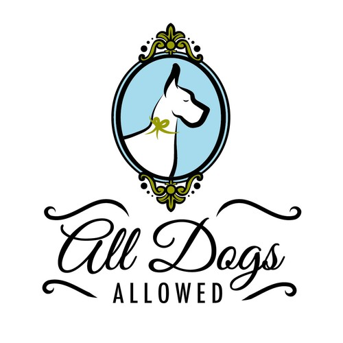 Dog logo with the title 'Create a French-Victorian logo for a doggy training center and boutique!'